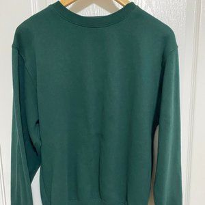 Plain Green Pullover Hoodie